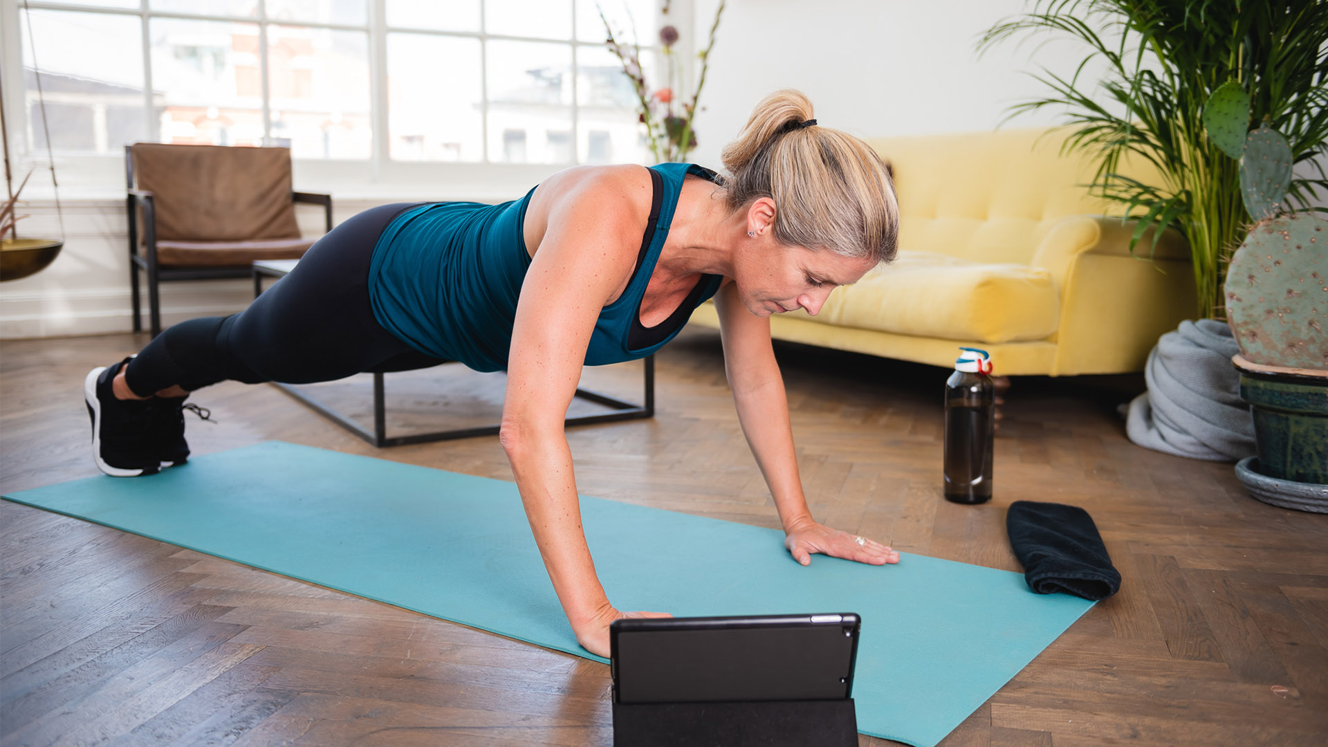 Woman training with Fitchannel.com